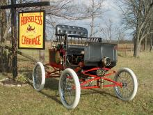 1899 Stanley steam car Attraction between Bobcaygeon and Fenelon falls at Horseless Carraige Museum in Kawartha Lakes, things to do, Fenelon Falls museum, bobcaygeon museum,