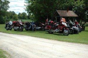 motor cycle club at horseless carriage museum