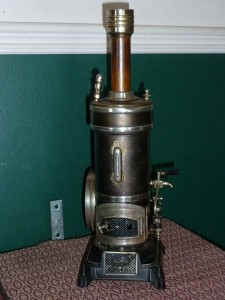 Antique steam engine Bing German