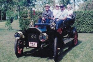 Antique REO touring car