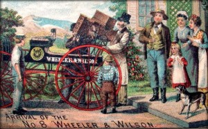 Delivery of a Wheeler & Wilson No.8  Treadle Sewing Macine